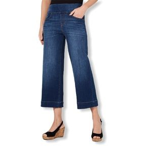 Style & Co Wide-Leg Cropped  Pull-On Jeans